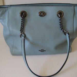 Coach pebble leather handbag purse